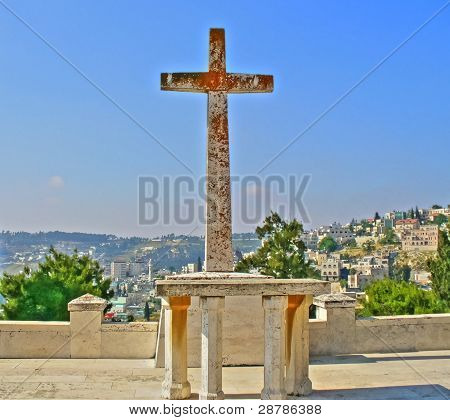 Rusty Cross of Jerusalem