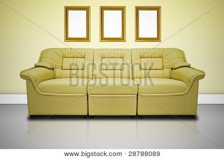 Yellow Modern Sofa
