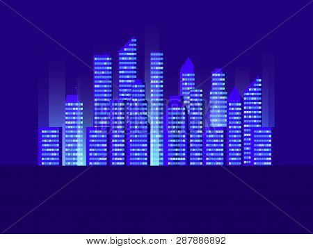 Cityscape With Skyscrapers Cities Of