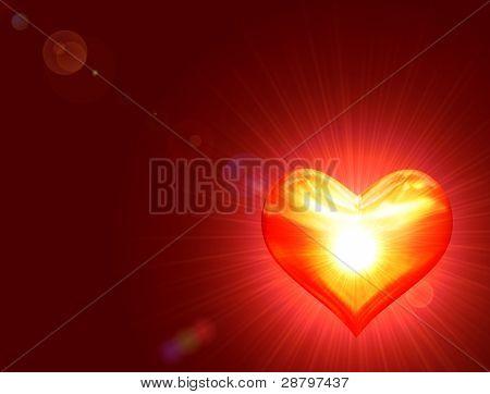 Shining Golden Heart