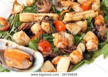 Fried Seafood Close Up