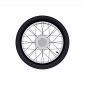 Wheel For A Motorcycle. Wheel. Wheel Logo. White Background. Vector Illustration. Eps 10. poster