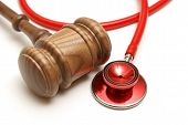 stock photo of health-care  - A concept related to a medical lawsuit in the legal system - JPG