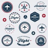 Vintage Aeronautics Labels
