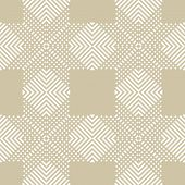 Subtle Vector Geometric Seamless Pattern With Crossing Diagonal Lines, Stripes, Squares. Abstract Re poster
