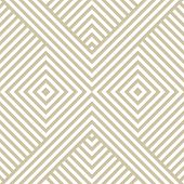 Vector Golden Geometric Lines Pattern. Luxury Linear Background With Diagonal Stripes, Squares, Chev poster