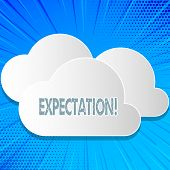 Word Writing Text Expectation. Business Concept For Meteorological Research Analyst Predicts Weather poster