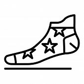 Star Sock Icon. Outline Star Sock Icon For Web Design Isolated On White Background poster