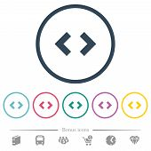 Script Code Flat Color Icons In Round Outlines. 6 Bonus Icons Included. poster