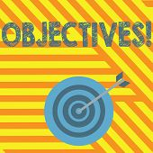 Handwriting Text Writing Objectives. Concept Meaning Goals Planned To Be Achieved Desired Targets. poster