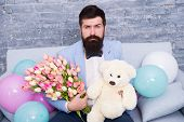 The Quickest Way To Show You Care. Love Spring. International Spring Holiday. Spring Gift. Bearded M poster