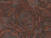 Copper Plate Texture- Destroyed Metal Structure. Rusty Background-  Industrial Vintage, Corrosion Bl poster