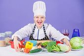 Lets Start Cooking. Woman Chef Cooking Healthy Food. Gourmet Main Dish Recipes. Delicious Recipe Con poster