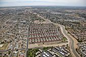 stock photo of snowbird  - Red roofs in a subdivision of Yuma Arizona - JPG