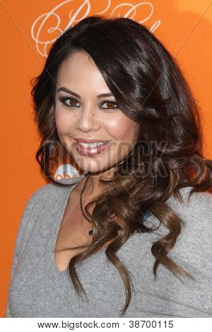 "LOS ANGELES - OCT 16:  Janel Parrish arrives at  ""Pretty Little Liars"" Special Halloween Episode Screening at Hollywood Forever Cemetery on October 16, 2012 in Los Angeles, CA"