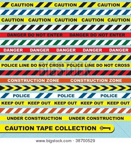 Caution Tape Labels