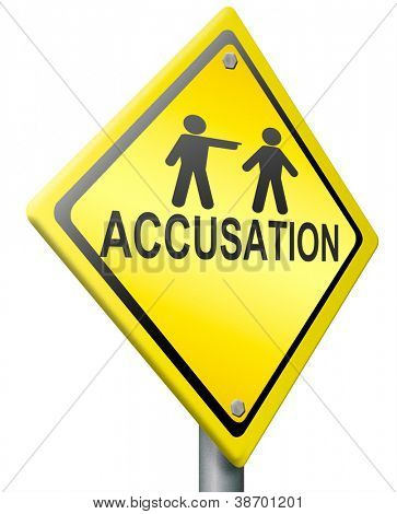 false accusation pointing finger  or getting fired accuse other picking person select volunteer guilty firing employee