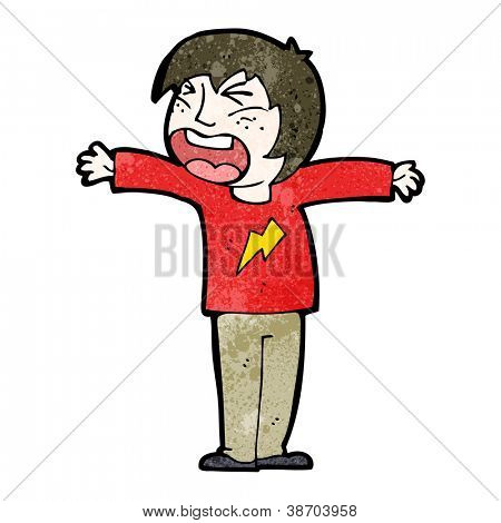cartoon angry person