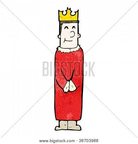 cartoon friendly king