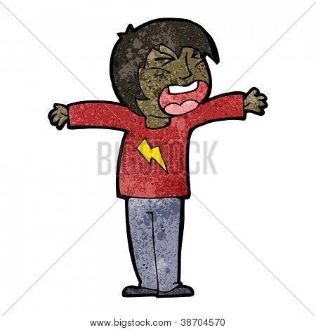 cartoon shouting person