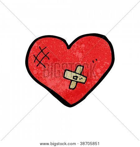 corazón con esparadrapo