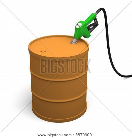 Filling Petrol Barrel