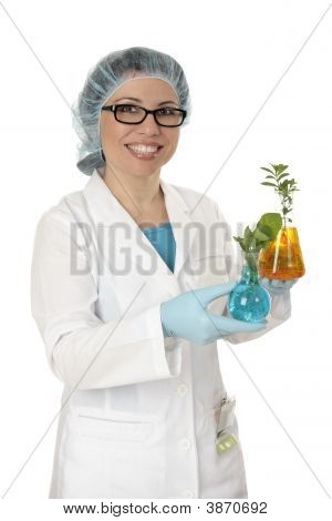 Scientist Cultivating Plants