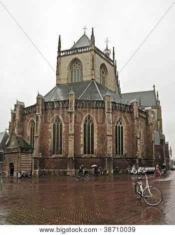 Medieval church St. Bavo in Haarlem the Netherlands