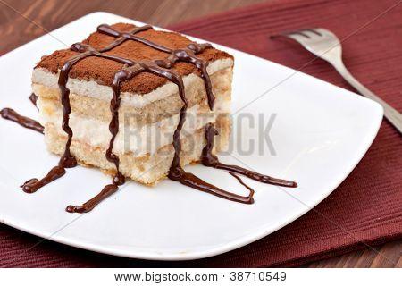 Tiramisu Dessert served on a plate