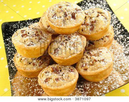 Plato de tartas de pacana