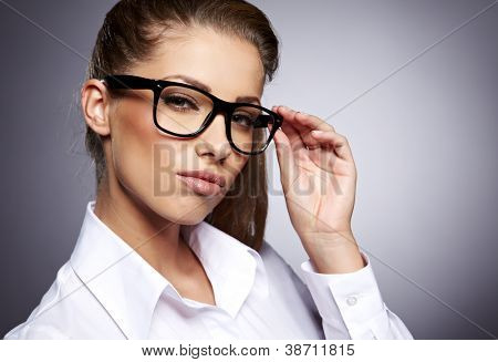 Business theme: beautiful businesswoman