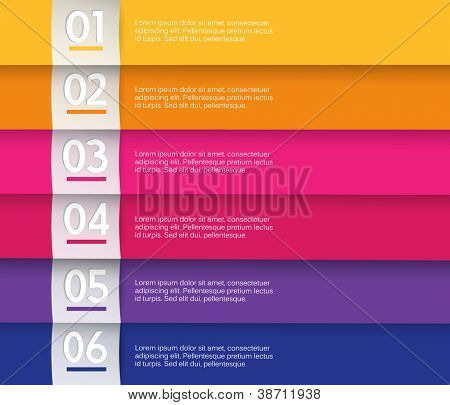 Set of colored stripes with place for your own text.