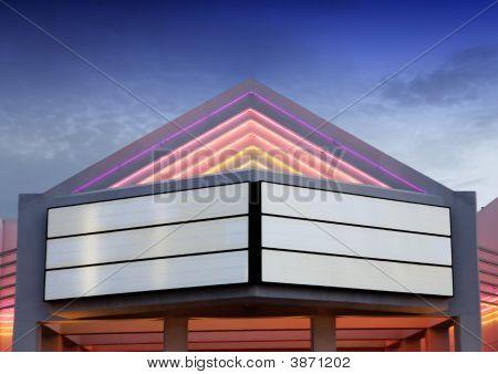 Illuminated Blank Movie Billboard