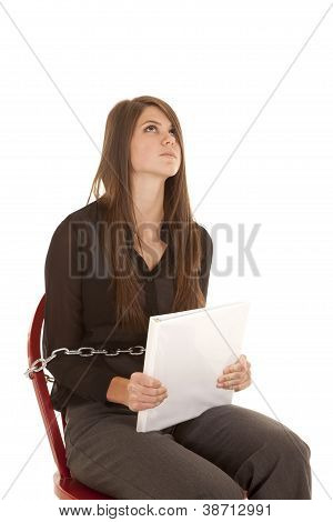 Frustrated Chained To Chair