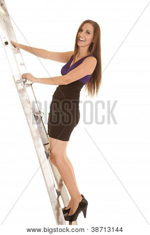 Happy Climbing Up Ladder