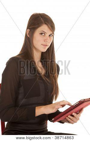 Mirada seria Tablet