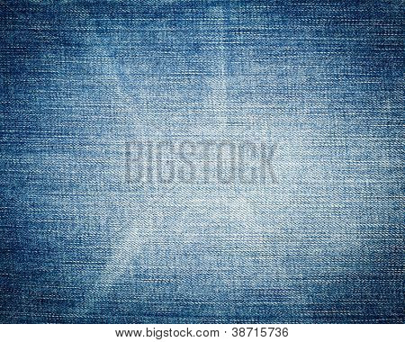 Blue jeans texture close-up background