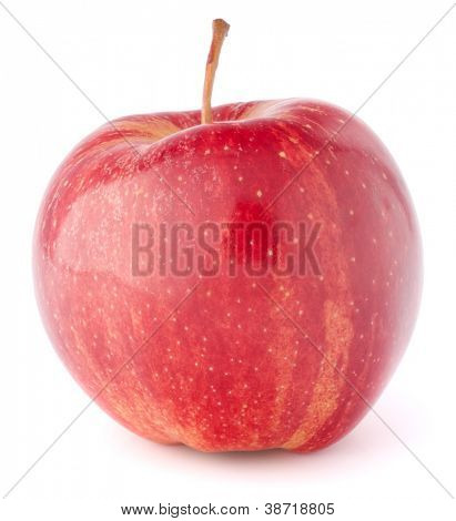 roter Apfel, isolated on white background