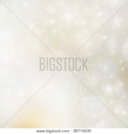 Christmas background with blur golden lights