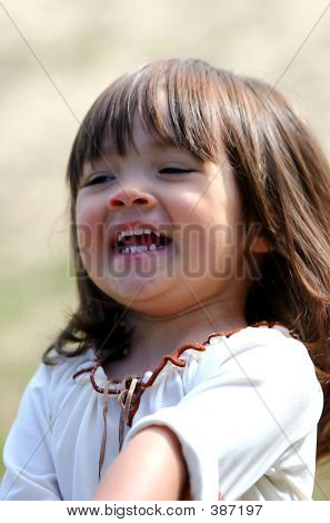Little Girl Laughing.