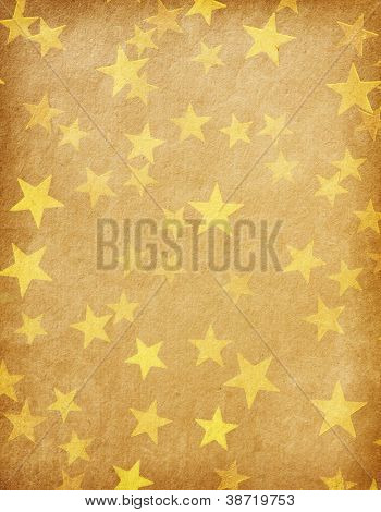 vintage paper decorated with  gold stars