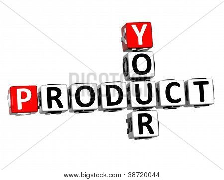 3D Your Product Crossword