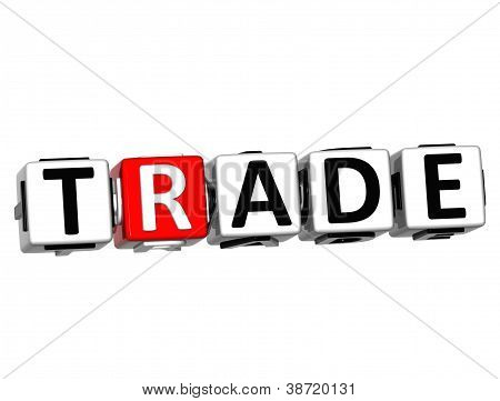 3D Trade Button Click Here Block Text