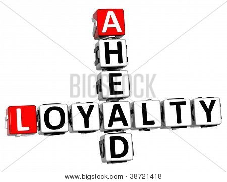 3D Loyalty Ahead Crossword