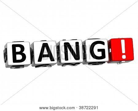 3D Bang Button Click Here Block Text