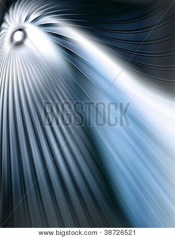 Abstract blue tunel over dark blue background