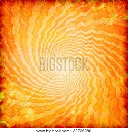 Orange grunge swirl background  with some stains on it