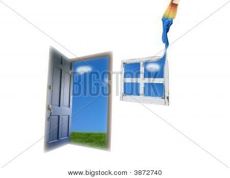 Open Door Window Paint
