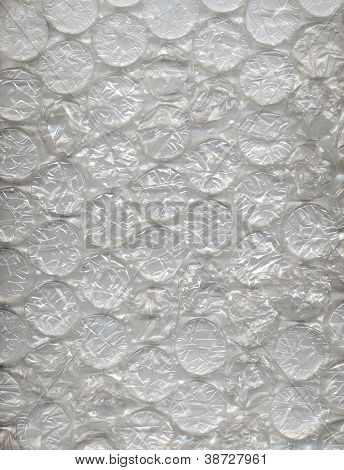 Large Clear Bubbles On Bubblewrap Packing Material