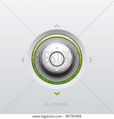 Joystick UI button design with light